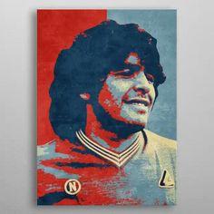 God Of Football, World Football, Skull Artwork, Cool Artwork, Real Madrid And Barcelona, Diego Armando, Poster Prints, Art Prints, Sports Art