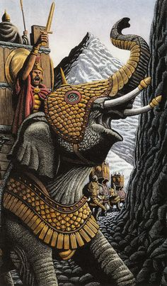 Adventures by Douglas Smith - Hannibal & army crossing the Pyrenées and Alps on elephants