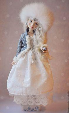 Купить СНЕГУРОЧКА - снегурочка, кукла, кукла снегурочка, коллекционная кукла, кукла коллекционная, зима, Снегурка