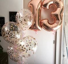 """Giant 34"""" Rose Gold Balloon Numbers/ Rose Gold Number Balloons/ XL ..."""