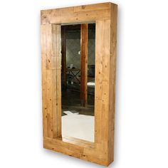 Giant Reclaimed Wood Leaning Mirror  Custom Sizes by CroftHouseLA