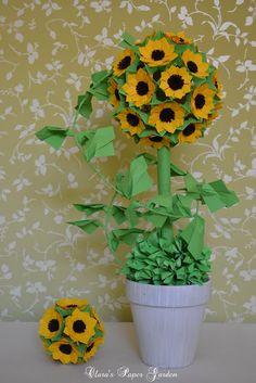 Lets Make Origami: Sunflower kusudama