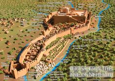 Here is an image of the wall surrounding Nehemiah rebuilt, Jerusalem, Israel. https://www.facebook.com/Nuestro-Dios-Jehov%C3%A1h-443323375834518/timeline/