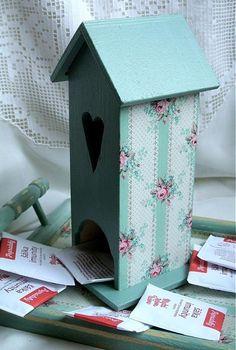 ssona / Decoupage, Bird, Outdoor Decor, Handmade, Home Decor, Hand Made, Decoration Home, Room Decor, Birds