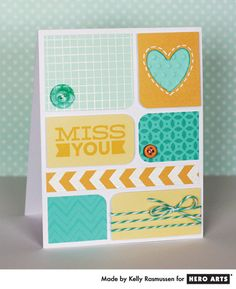 love this color combo...studio calico has done it again! love the card design. with a few changes, it could be more masculine and any sentiment would work well.