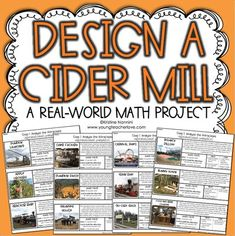 The Benefits of Project-Based Learning - Young Teacher Love - Math Project - Design a Cider Mill Fall Math Project - Fall Math Activities - I created this real-world math project as a fun way to share this fall-time experience with students and help them practice different skills such as analyzing, problem-solving, and math skills (addition, subtraction, multiplication, and area). Great for your 4th, 5th, and 6th grade classroom or homeschool students. #ThanksgivingPBL #MathProject 5th Grade Classroom, Middle School Classroom, 4th Grade Math, Future Classroom, Teaching Math, Math Teacher, Teacher Stuff, Teaching Ideas, Math Subtraction