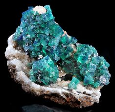 Fluorite with Galena on Quartz.
