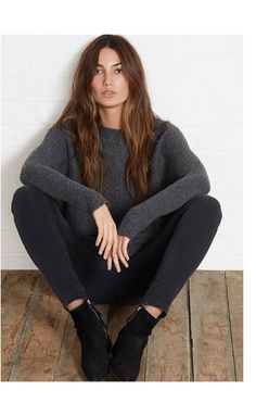 f2c7c02d24d Cashmere Blend Sweater    Cable Knit    Velvet by Graham   Spencer- model-  Lily Aldridge