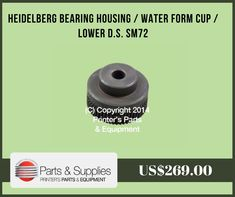 Printers Parts & Equipment Parts and Supplies store also known as Shop.PrintersParts collects wide range of Heidelberg Bearing Housing at our web store. You can buy Heidelberg Bearing Housing at an affordable price rate.