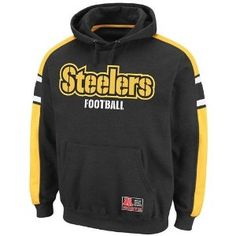 ad906c71a Amazon.com : NFL Mens Pittsburgh Steelers Passing Game II Long Sleeve  Hooded Fleece Pullover (Black/Yellow Gold/White, X-Large) : Sports Fan  Sweatshirts : ...