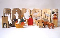 way beyond my capabilities but so cool! Wooden Block Puzzle, Wooden Blocks, Four Horses, Waldorf Toys, Childrens Gifts, Birch Bark, One Tree, Creative Play, Kid Spaces