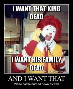 When Ronald McDonald means business against the competition