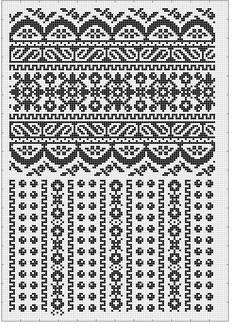 "Photo from album ""Сокальська вишивка"" on Yandex. Fair Isle Knitting Patterns, Knitting Charts, Knitting Stitches, Knitting Designs, Cross Stitch Borders, Cross Stitch Charts, Cross Stitching, Cross Stitch Patterns, Folk Embroidery"