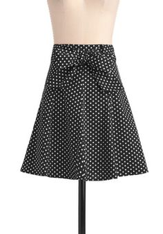Musee d'Art Moderne Skirt #ModCloth. $35. Polka dots, my weakness.