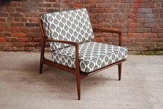 Stunning Danish Mid-century Modern Club Chair / New Upholstery