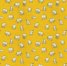 indian baby elephants Art Print by estellef Elephant Throw Pillow, Elephant Wallpaper, Elephant Canvas, Elephant Fabric, Indian Baby, Elephant Pattern, Yellow Pattern, Pretty Patterns, Design Patterns