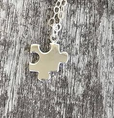 Sterling Silver Puzzle Piece Necklace
