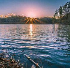 Sunrise at Ohio's Lake Hope State Park. Amazing photo from Gabe Leidy Photography.