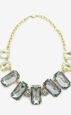 Lulu Frost Gold and Aqua Necklace