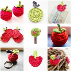 My Crochet Apples Collection. Some patterns are on my blog: www.annemarieshaakblog.blogspot.com