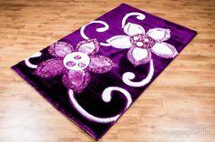 Különleges virágos shaggy szőnyeg