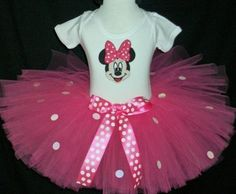 Pink Sparkle Minnie Mouse Costume set by sweetiepietutus on Etsy