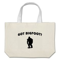 Our Sasquatch tote bags are great for carrying around your school & office work, or other shopping purchases. Large Canvas Tote Bags, Bigfoot, Reusable Tote Bags