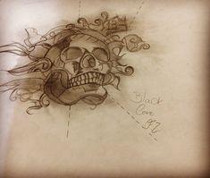 Caveira reformada, desenho antigo refeito! ☠️❌. #bones #caveira #caveirablackwork #skulldraw #skulldrawing #blackworkskull #balckworkartist #blackworkdraw #blackcorefz #blackcorefz2018 #tattooyou #tattoo2me #losangelesink #miamiink #blackworkbh #blackworkbrasil #blackworkbraziltattoo