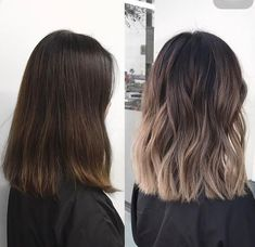 The ombre hair trend has been seducing for some seasons now. More discreet than tie and dye, less classic than sweeping, this new technique of hair. Brown Ombre Hair, Brown Blonde Hair, Light Brown Hair, Black Hair, Pixie Cut Blond, Medium Hair Styles, Short Hair Styles, Long Layered Haircuts, Haircut For Thick Hair