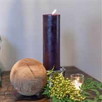 Purple Pillar Candles - This fabulous deep purple color looks amazing in any setting. I love that we found a home for this one in a cozy bathroom. Adds just the right color and perfect glow in a space that usually gets forgotten about. White Candles, Pillar Candles, Cozy Bathroom, Deep Purple Color, Finding A House, Candle Holders, Glow, Space, Amazing