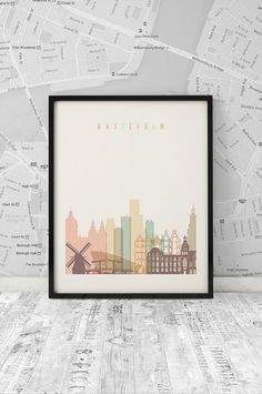Amsterdam art print Printable Poster Wall Art by ArtFilesVicky