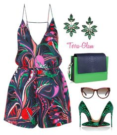"""""""Floral Forever"""" by terra-glam ❤ liked on Polyvore featuring Emilio Pucci, 1928, Christian Louboutin and Michael Kors"""