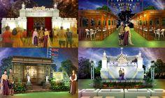 กรุงศรี เฟสติวัล พัฒนาชุมชน จังหวัดพระนครศรีอยุธยา  แนวคิด อร่ามเรืองรอง ยุคทองพระนารายณ์ ช้อปกระจาย สไตล์ออเจ้า Concert Stage Design, Set Design, Pavilion, Tulips, Writer, Concept, 3d, Contemporary, Weddings