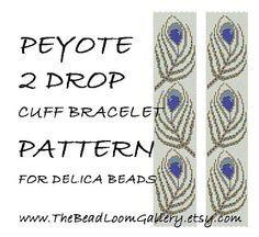 Peyote 2 Drop Cuff Bracelet Pattern Vol.19  by thebeadloomgallery, $4.50