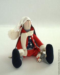 Игрушки животные, ручной работы. Зайка Dan - рождественский эльф, 39 см. Лада Садомская. Ярмарка Мастеров. Заяц текстильный