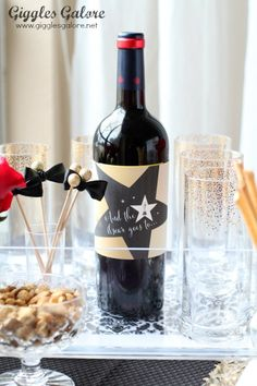 And the Oscar Goes to.. Free Printable Wine Bottle Labels.