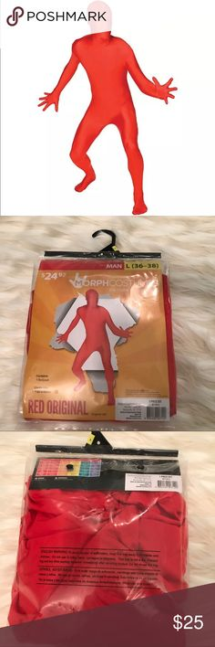 Morphsuit Costume Men's L Morphcostumes Home of Morphsuits Red Original Bodysuit Men's Costume Sz L 36-38. Opened for inspection, Tag still attached.   Please ask me questions. Other
