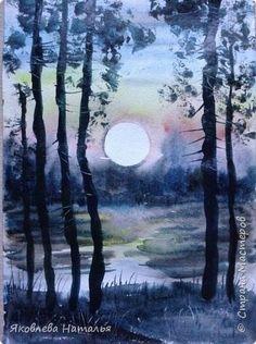 Картина панно рисунок Мастер-класс Рисование и живопись Акварельная зарисовка Акварель фото 10