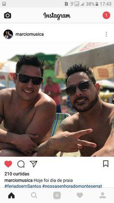 Lindos Vavá e Márcio ..curtindo feriado(08-09-17) em Santos na praia