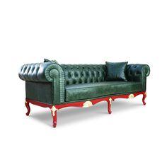 Leather Chesterfield Sofa by LebertaLondon on Etsy