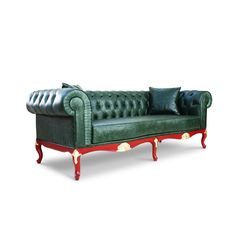 Leather Chesterfield Sofa by LebertaLondon on Etsy