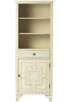 The perfect bathroom addition. This linen cabinet will keep cozy towels within easy reach. HomeDecorators.com #bath