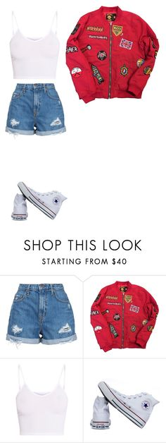 """""""Untitled #456"""" by ericanunes on Polyvore featuring Nobody Denim, BasicGrey and Converse"""