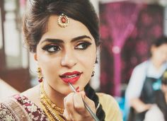 Beautiful Shots of Indian Brides Getting Ready for their Wedding - BollywoodShaadis.com - Page 1
