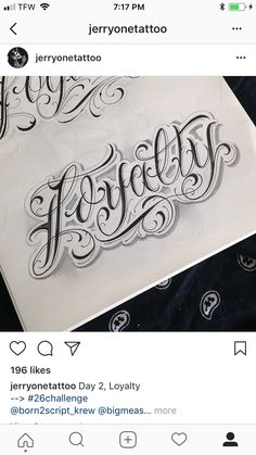 Loyalty – Graffiti World Chest Tattoo Lettering, Tattoo Writing Fonts, Tattoo Lettering Design, Graffiti Lettering Fonts, Chicano Lettering, Graffiti Tattoo, Hand Lettering Alphabet, Tattoo Design Drawings, Tattoo Script