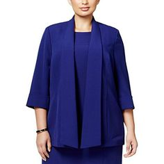 """Product review for Kasper Womens Plus Marselle Open Front Non-Vented Casual Blazer.  - This Kasper Casual Blazer is guaranteed authentic. It's crafted with 97% Polyester/3% Elastane.       Famous Words of Inspiration...""""I bought some batteries but they weren't included, so I had to buy them again.""""   Steven Wright — Click..."""