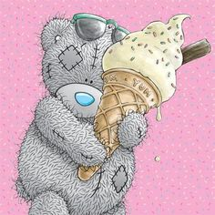 Tatty bear is so cute Tatty Teddy, Teddy Pictures, Bear Pictures, Cute Pictures, Watercolor Card, Blue Nose Friends, Bear Illustration, Love Bear, Cute Teddy Bears