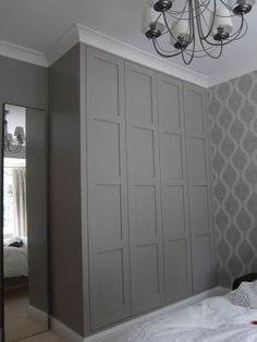 7 Marvelous Diy Ideas: Picture Frame Wainscoting Home wainscoting full wall interior design.Traditional Wainscoting Board And Batten wainscoting farmhouse sinks. Wainscoting Stairs, Dining Room Wainscoting, Wainscoting Height, Wainscoting Nursery, Painted Wainscoting, Wainscoting Ideas, Alcove Cabinets, Bedroom Cupboards, Painted Wardrobe