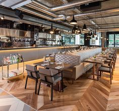 Elegant bar and restaurant at London's regenerated hub is a destination in…