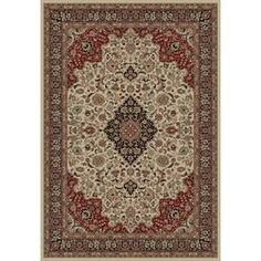 Concord Global Dynasty Ivory Rectangular Indoor Woven Oriental Area Rug (Common: 5 X 8; Actual: 5.25-Ft W X 7.58-Ft L X